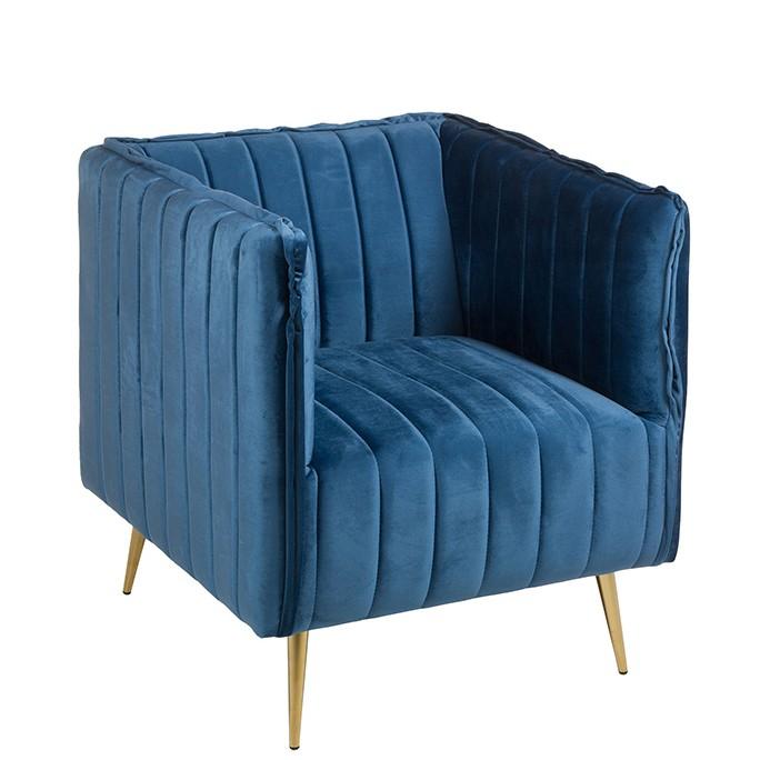 Fotoliu modern design deosebit Art Deco, albastru 53030 SAP, Fotolii - Fotolii extensibile, Corpuri de iluminat, lustre, aplice, veioze, lampadare, plafoniere. Mobilier si decoratiuni, oglinzi, scaune, fotolii. Oferte speciale iluminat interior si exterior. Livram in toata tara.  a