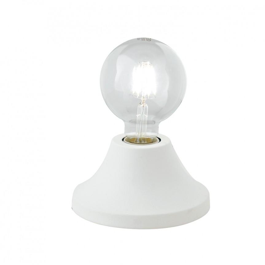 Veioza / Lampa de masa moderna design minimalist VESEVUS alba, Veioze, Lampi de masa, Corpuri de iluminat, lustre, aplice, veioze, lampadare, plafoniere. Mobilier si decoratiuni, oglinzi, scaune, fotolii. Oferte speciale iluminat interior si exterior. Livram in toata tara.  a