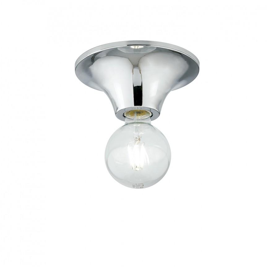 Plafoniera moderna design minimalist Ø18cm VESEVUS crom, Plafoniere moderne, Corpuri de iluminat, lustre, aplice, veioze, lampadare, plafoniere. Mobilier si decoratiuni, oglinzi, scaune, fotolii. Oferte speciale iluminat interior si exterior. Livram in toata tara.  a