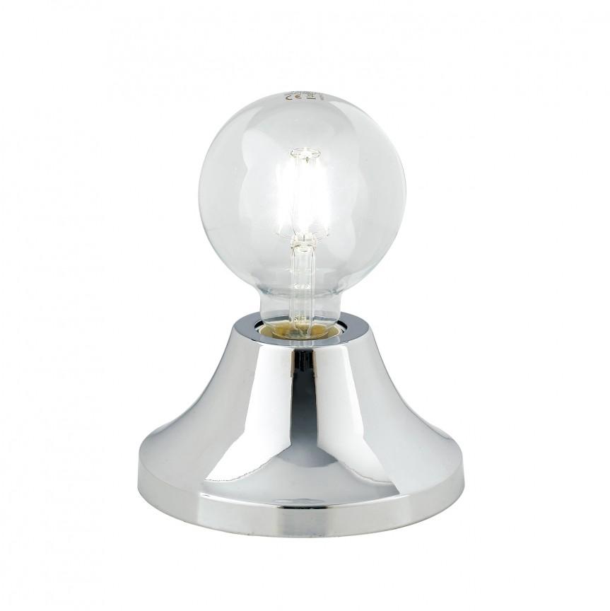 Veioza / Lampa de masa moderna design minimalist VESEVUS crom, Veioze, Lampi de masa, Corpuri de iluminat, lustre, aplice, veioze, lampadare, plafoniere. Mobilier si decoratiuni, oglinzi, scaune, fotolii. Oferte speciale iluminat interior si exterior. Livram in toata tara.  a