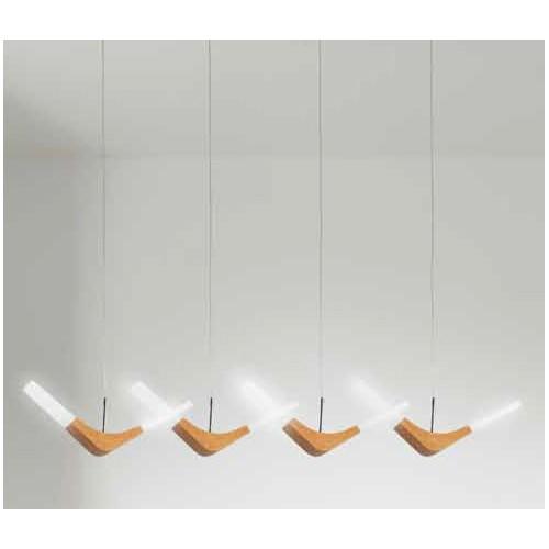 Lustra cu 4 pendule LED din lemn si acrilic DXD-14685-4 MARE 77-3675 HL, Pendule, Lustre suspendate, Corpuri de iluminat, lustre, aplice, veioze, lampadare, plafoniere. Mobilier si decoratiuni, oglinzi, scaune, fotolii. Oferte speciale iluminat interior si exterior. Livram in toata tara.  a