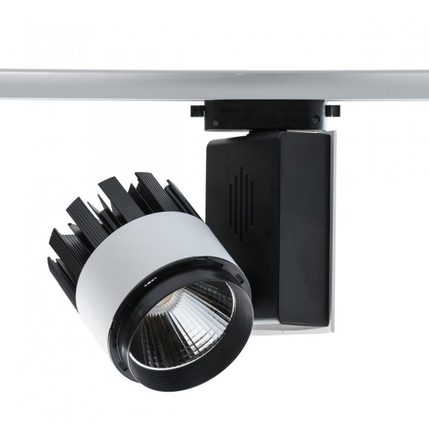 Spot LED directionabil pe sina Rondo II negru/alb 30W 550011301 MW, Spoturi, Proiectoare pe sina, Corpuri de iluminat, lustre, aplice, veioze, lampadare, plafoniere. Mobilier si decoratiuni, oglinzi, scaune, fotolii. Oferte speciale iluminat interior si exterior. Livram in toata tara.  a