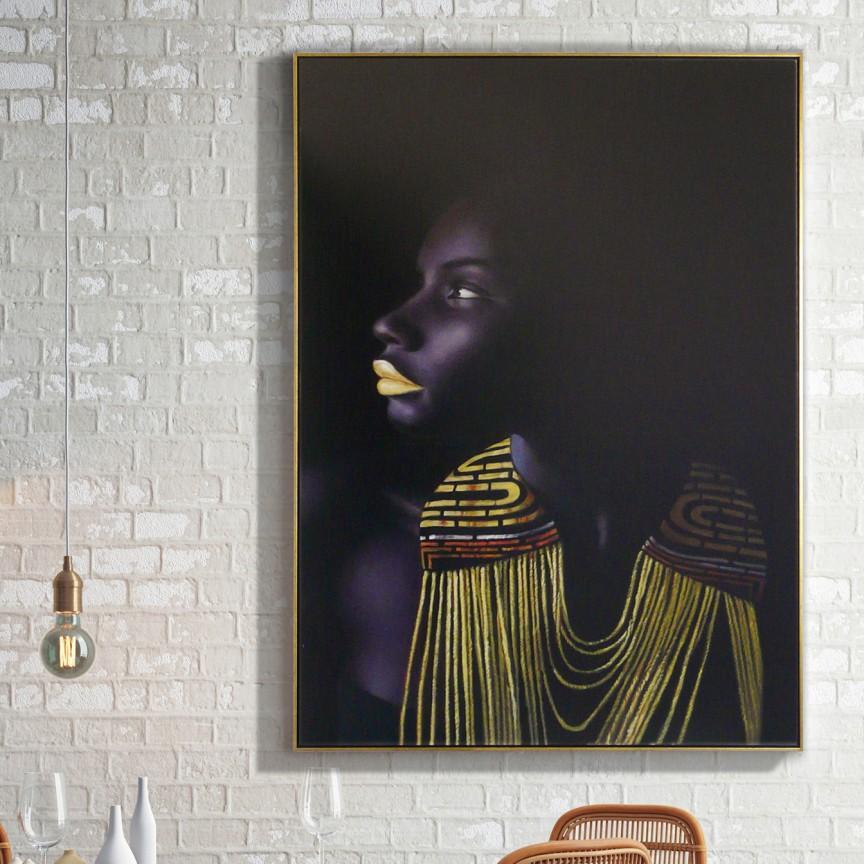 Tablou decorativ Himba, 110x150cm SV-421862, Tablouri decorative, Corpuri de iluminat, lustre, aplice, veioze, lampadare, plafoniere. Mobilier si decoratiuni, oglinzi, scaune, fotolii. Oferte speciale iluminat interior si exterior. Livram in toata tara.  a