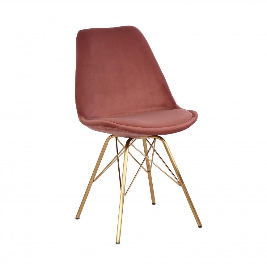 Set de 4 scaune Scandinavia Retro, catifea roz antic A-39305 VC, Seturi scaune dining, scaune HoReCa, Corpuri de iluminat, lustre, aplice, veioze, lampadare, plafoniere. Mobilier si decoratiuni, oglinzi, scaune, fotolii. Oferte speciale iluminat interior si exterior. Livram in toata tara.  a