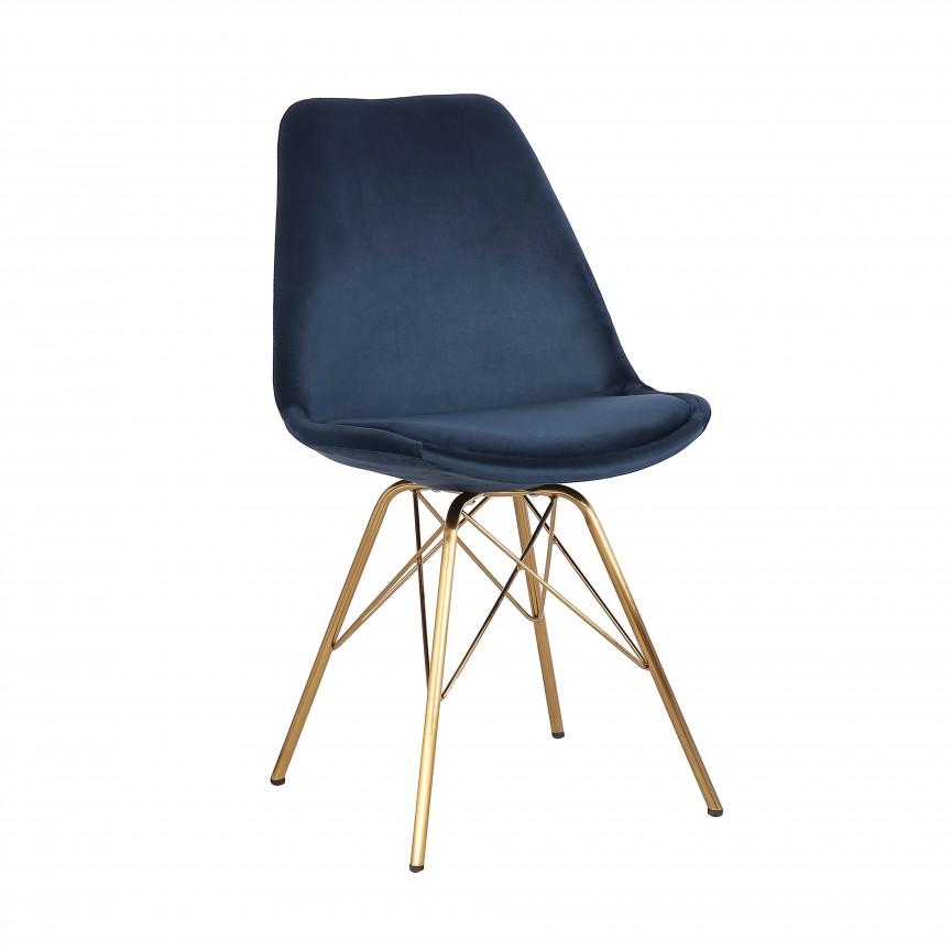 Set de 4 scaune Scandinavia Retro, catifea albastru inchis A-39304 VC, Seturi scaune dining, scaune HoReCa, Corpuri de iluminat, lustre, aplice, veioze, lampadare, plafoniere. Mobilier si decoratiuni, oglinzi, scaune, fotolii. Oferte speciale iluminat interior si exterior. Livram in toata tara.  a
