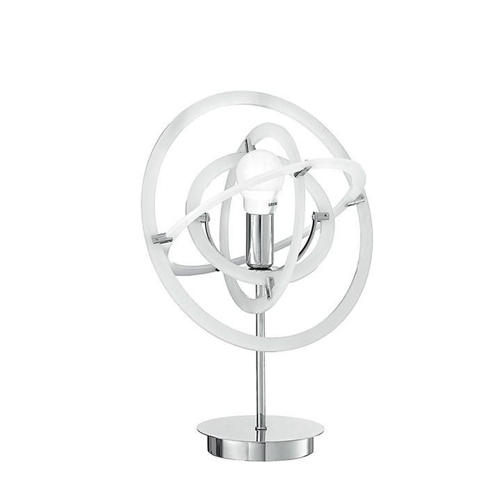 Veioza / Lampa de masa design modern Atom alba, Veioze, Lampi de masa, Corpuri de iluminat, lustre, aplice, veioze, lampadare, plafoniere. Mobilier si decoratiuni, oglinzi, scaune, fotolii. Oferte speciale iluminat interior si exterior. Livram in toata tara.  a