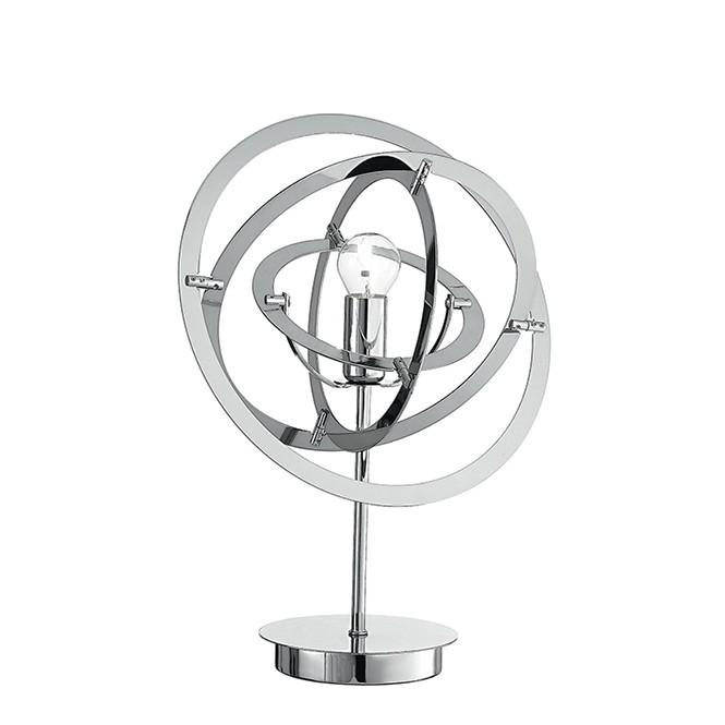 Veioza / Lampa de masa design modern Atom crom, Veioze, Lampi de masa, Corpuri de iluminat, lustre, aplice, veioze, lampadare, plafoniere. Mobilier si decoratiuni, oglinzi, scaune, fotolii. Oferte speciale iluminat interior si exterior. Livram in toata tara.  a