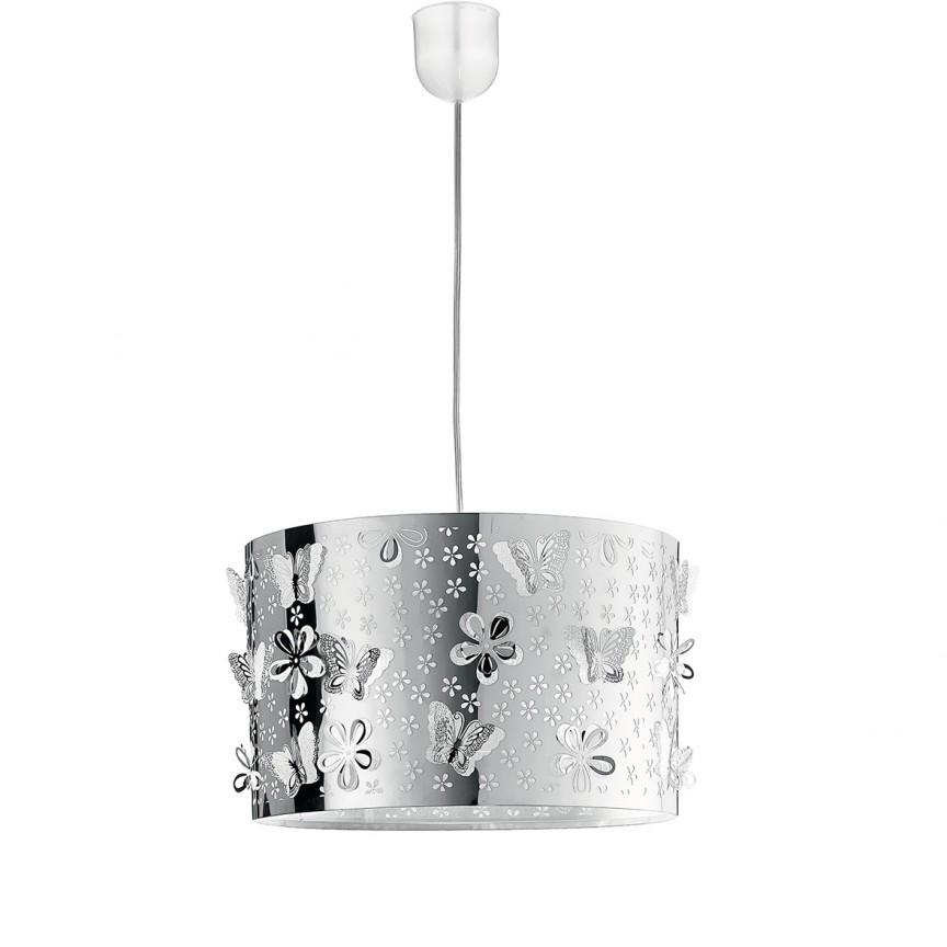 Lustra moderna design decorativ Ø35cm BUTTERFLY, Pendule, Lustre suspendate, Corpuri de iluminat, lustre, aplice, veioze, lampadare, plafoniere. Mobilier si decoratiuni, oglinzi, scaune, fotolii. Oferte speciale iluminat interior si exterior. Livram in toata tara.  a