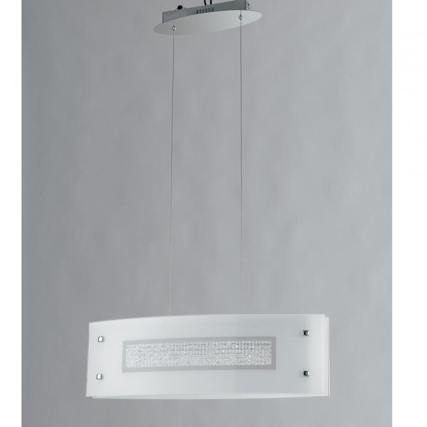 Lustra LED design elegant cu cristale K9 TRILOGY, Lustre LED, Pendule LED, Corpuri de iluminat, lustre, aplice, veioze, lampadare, plafoniere. Mobilier si decoratiuni, oglinzi, scaune, fotolii. Oferte speciale iluminat interior si exterior. Livram in toata tara.  a
