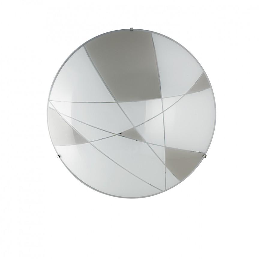 Plafoniera LED design modern sticla decorata Ø40cm MAXIMA, Plafoniere LED, Spoturi LED, Corpuri de iluminat, lustre, aplice, veioze, lampadare, plafoniere. Mobilier si decoratiuni, oglinzi, scaune, fotolii. Oferte speciale iluminat interior si exterior. Livram in toata tara.  a