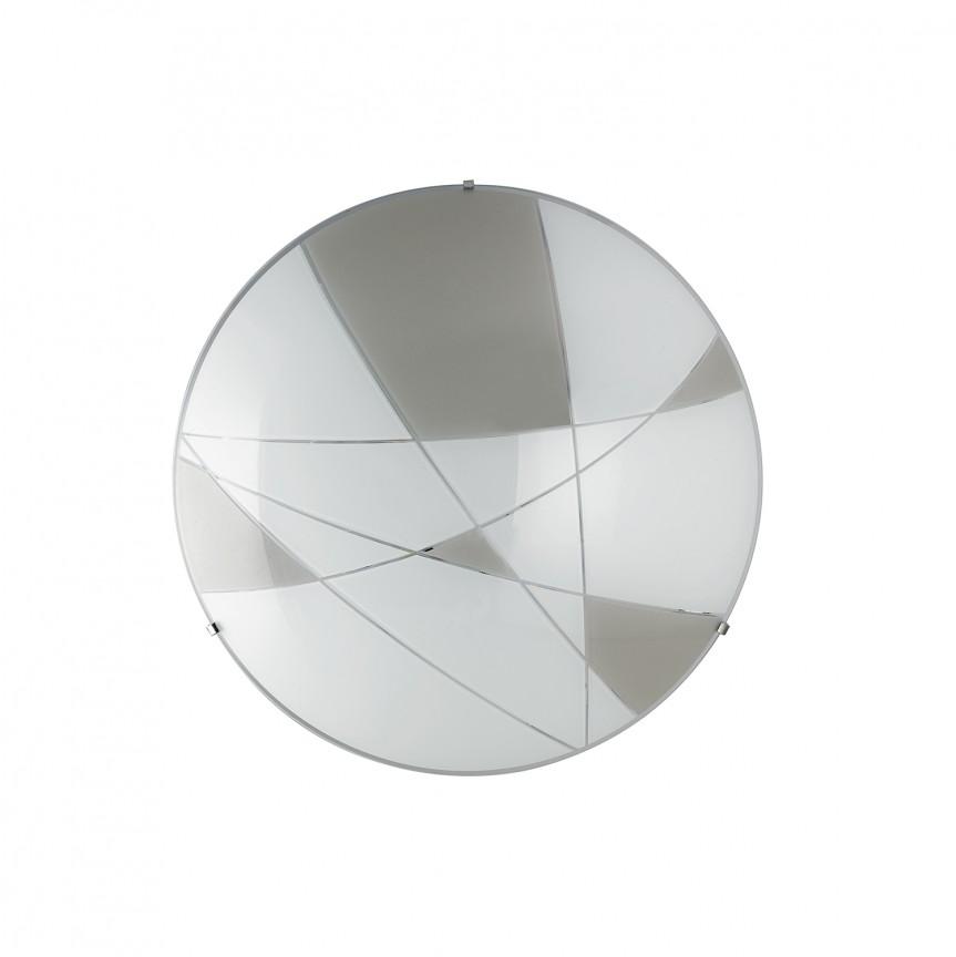 Plafoniera LED design modern sticla decorata Ø30cm MAXIMA, Plafoniere LED, Spoturi LED, Corpuri de iluminat, lustre, aplice, veioze, lampadare, plafoniere. Mobilier si decoratiuni, oglinzi, scaune, fotolii. Oferte speciale iluminat interior si exterior. Livram in toata tara.  a