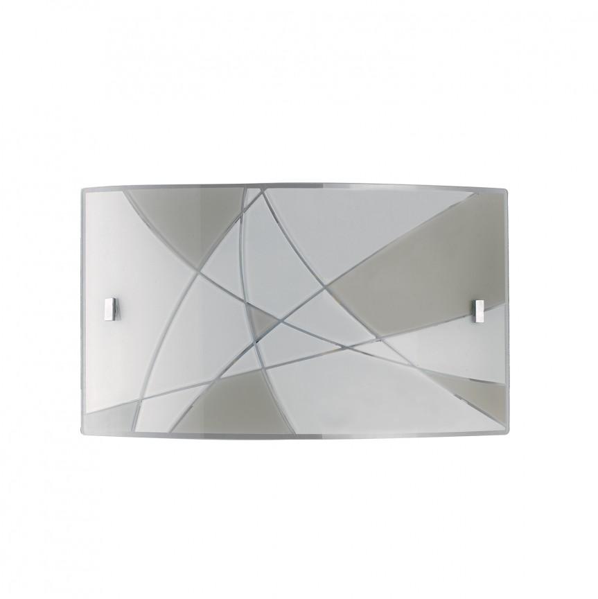 Aplica LED de perete design modern sticla decorata MAXIMA 45, Aplice de perete LED, Corpuri de iluminat, lustre, aplice, veioze, lampadare, plafoniere. Mobilier si decoratiuni, oglinzi, scaune, fotolii. Oferte speciale iluminat interior si exterior. Livram in toata tara.  a