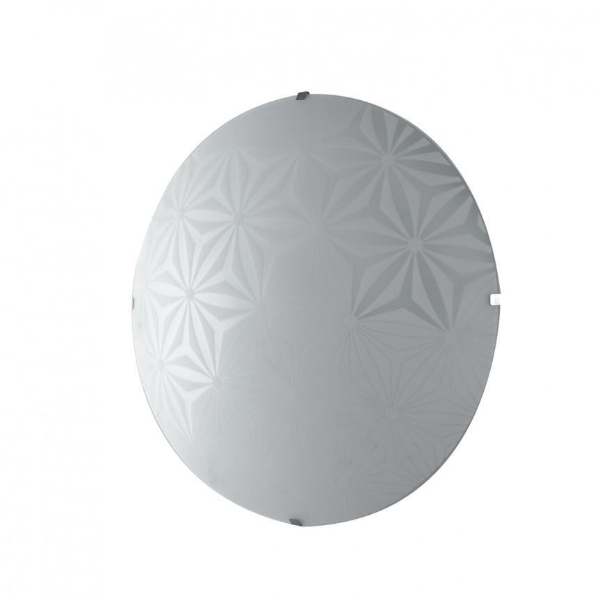 Aplica LED de perete / tavan design modern sticla decorata EXAGON 30, Aplice de perete LED, Corpuri de iluminat, lustre, aplice, veioze, lampadare, plafoniere. Mobilier si decoratiuni, oglinzi, scaune, fotolii. Oferte speciale iluminat interior si exterior. Livram in toata tara.  a