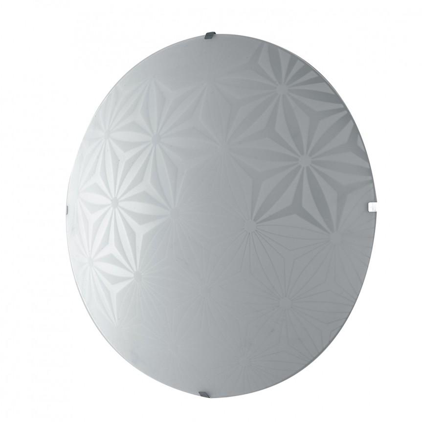 Aplica LED de perete / tavan design modern sticla decorata EXAGON 40, Aplice de perete LED, Corpuri de iluminat, lustre, aplice, veioze, lampadare, plafoniere. Mobilier si decoratiuni, oglinzi, scaune, fotolii. Oferte speciale iluminat interior si exterior. Livram in toata tara.  a