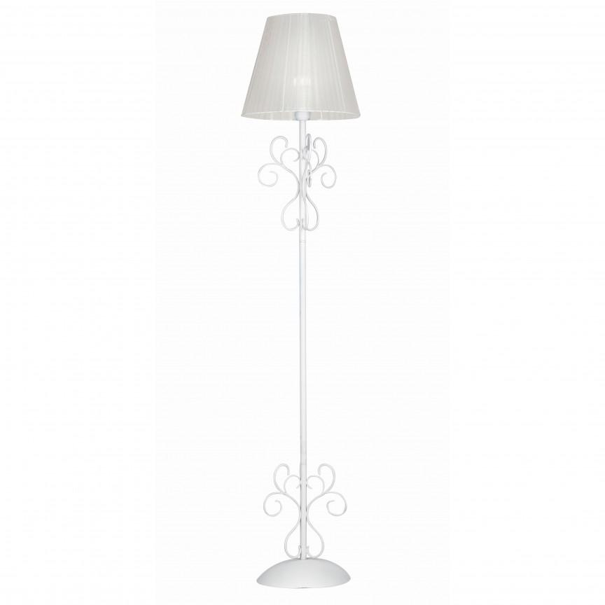 Lampadar elegant alb Perla I-PERLA/PT FE, Lampadare, Corpuri de iluminat, lustre, aplice, veioze, lampadare, plafoniere. Mobilier si decoratiuni, oglinzi, scaune, fotolii. Oferte speciale iluminat interior si exterior. Livram in toata tara.  a