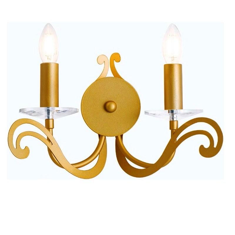 Aplica aurie cu 2 brate Klimt I-KLIMT/AP2 FE, Magazin, Corpuri de iluminat, lustre, aplice, veioze, lampadare, plafoniere. Mobilier si decoratiuni, oglinzi, scaune, fotolii. Oferte speciale iluminat interior si exterior. Livram in toata tara.  a