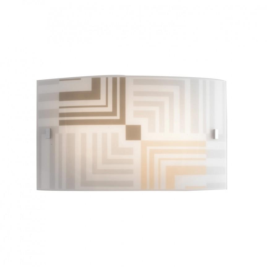 Aplica de perete sticla decorata SEVENTY, Aplice de perete simple, Corpuri de iluminat, lustre, aplice, veioze, lampadare, plafoniere. Mobilier si decoratiuni, oglinzi, scaune, fotolii. Oferte speciale iluminat interior si exterior. Livram in toata tara.  a