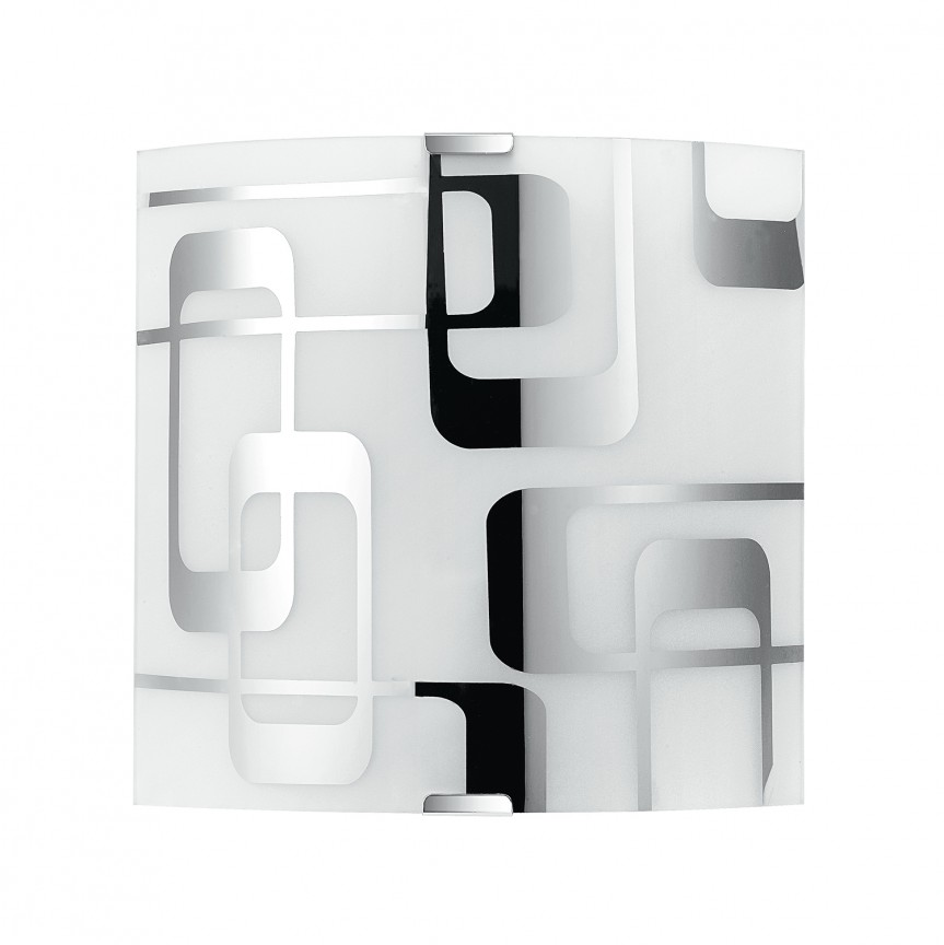 Aplica de perete sticla decorata TEOREMA I, Aplice de perete simple, Corpuri de iluminat, lustre, aplice, veioze, lampadare, plafoniere. Mobilier si decoratiuni, oglinzi, scaune, fotolii. Oferte speciale iluminat interior si exterior. Livram in toata tara.  a