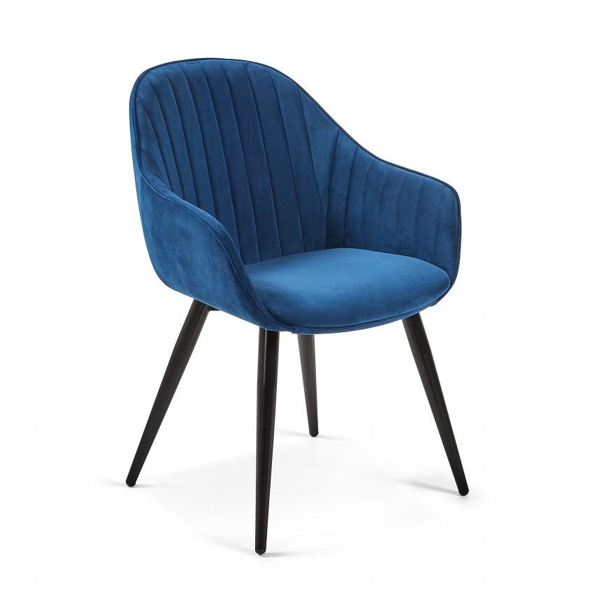Scaun cu brate design modern Herbert, catifea albastra CC1155JU25 JG, Cele mai noi produse 2019 a