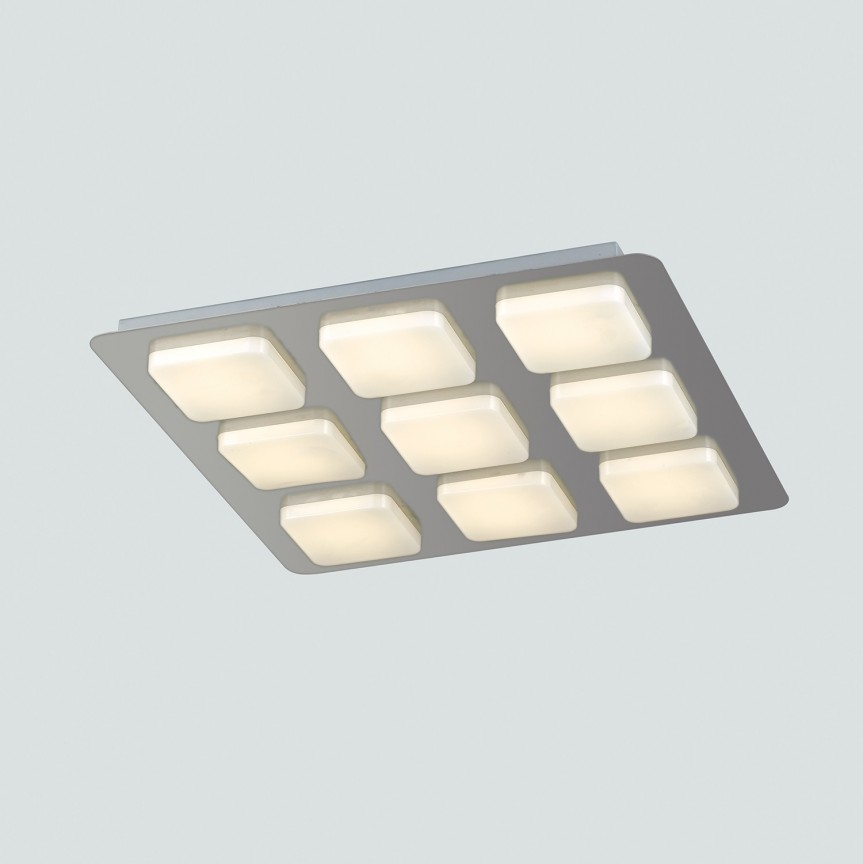 Lustra LED aplicata tavan L40cm MADISON, Plafoniere LED, Spoturi LED, Corpuri de iluminat, lustre, aplice, veioze, lampadare, plafoniere. Mobilier si decoratiuni, oglinzi, scaune, fotolii. Oferte speciale iluminat interior si exterior. Livram in toata tara.  a