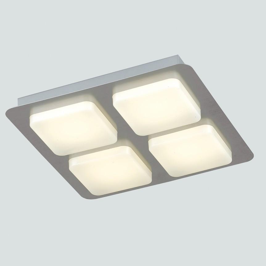 Lustra LED aplicata tavan L32cm MADISON, Plafoniere LED, Spoturi LED, Corpuri de iluminat, lustre, aplice, veioze, lampadare, plafoniere. Mobilier si decoratiuni, oglinzi, scaune, fotolii. Oferte speciale iluminat interior si exterior. Livram in toata tara.  a