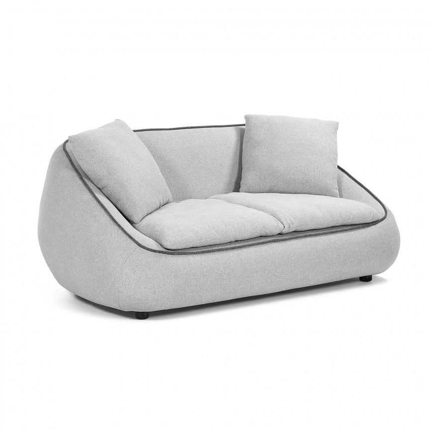 Canapea fixa 2 locuri design modern Safira, gri deschis S565J03 JG, Cele mai noi produse 2019 a