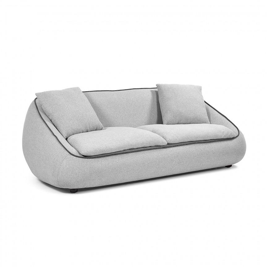 Canapea fixa 3 locuri design modern Safira, gri deschis S566J03 JG, Cele mai noi produse 2019 a