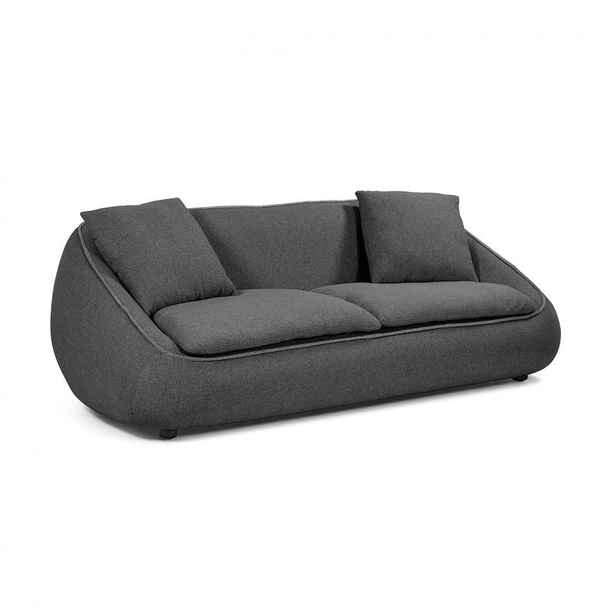 Canapea fixa 3 locuri design modern Safira, gri inchis S566J36 JG, Cele mai noi produse 2019 a