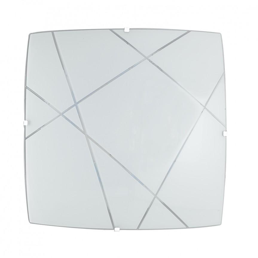 Plafoniera LED design modern sticla decorata ALEXIA PL40, Plafoniere LED, Spoturi LED, Corpuri de iluminat, lustre, aplice, veioze, lampadare, plafoniere. Mobilier si decoratiuni, oglinzi, scaune, fotolii. Oferte speciale iluminat interior si exterior. Livram in toata tara.  a