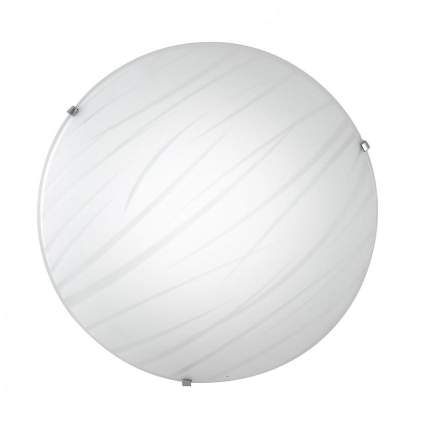 Plafoniera LED design modern sticla decorata Ø30cm GOGAIN, Plafoniere LED, Spoturi LED, Corpuri de iluminat, lustre, aplice, veioze, lampadare, plafoniere. Mobilier si decoratiuni, oglinzi, scaune, fotolii. Oferte speciale iluminat interior si exterior. Livram in toata tara.  a
