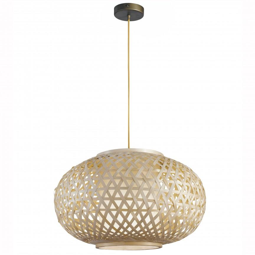 Lustra din bambus I-ZEN-S-XXL FE, 70cm, Candelabre, Pendule, Lustre, Corpuri de iluminat, lustre, aplice, veioze, lampadare, plafoniere. Mobilier si decoratiuni, oglinzi, scaune, fotolii. Oferte speciale iluminat interior si exterior. Livram in toata tara.  a