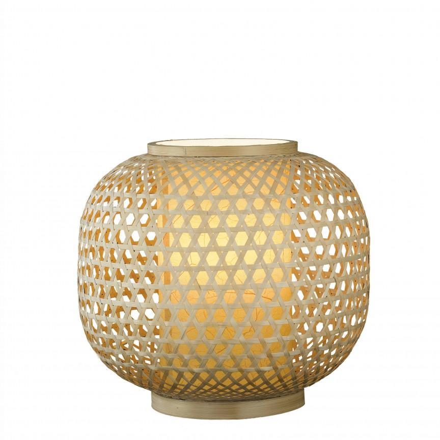 Veioza din bambus I-ZEN-LUME FE, 25cm, Veioze, Corpuri de iluminat, lustre, aplice, veioze, lampadare, plafoniere. Mobilier si decoratiuni, oglinzi, scaune, fotolii. Oferte speciale iluminat interior si exterior. Livram in toata tara.  a