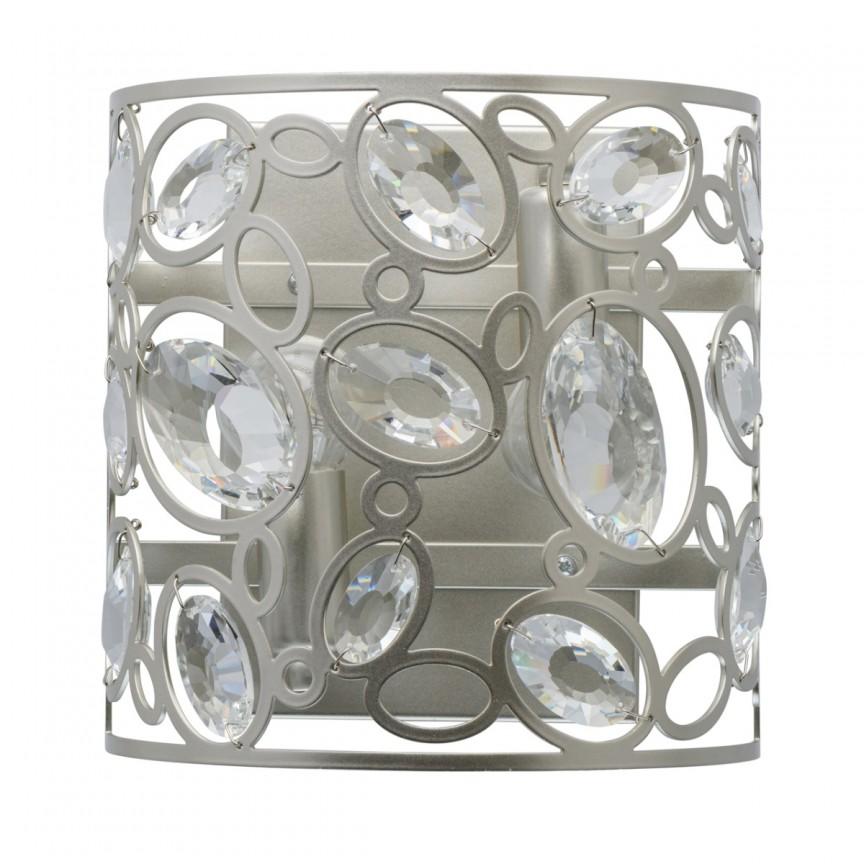 Aplica de perete design art-deco Laura argintie 345022702 MW, NOU ! Lustre VINTAGE, RETRO, INDUSTRIA Style, Corpuri de iluminat, lustre, aplice, veioze, lampadare, plafoniere. Mobilier si decoratiuni, oglinzi, scaune, fotolii. Oferte speciale iluminat interior si exterior. Livram in toata tara.  a
