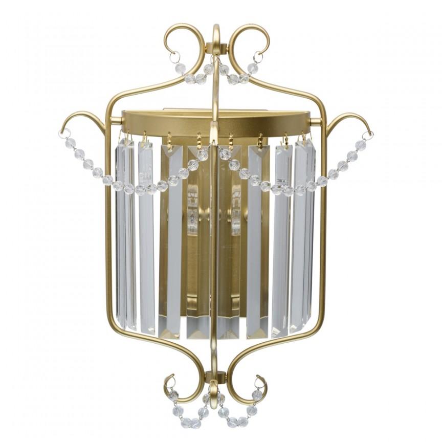 Aplica de perete clasica design elegant ADELE aurie 373024701 MW, Aplice de perete clasice, Corpuri de iluminat, lustre, aplice, veioze, lampadare, plafoniere. Mobilier si decoratiuni, oglinzi, scaune, fotolii. Oferte speciale iluminat interior si exterior. Livram in toata tara.  a