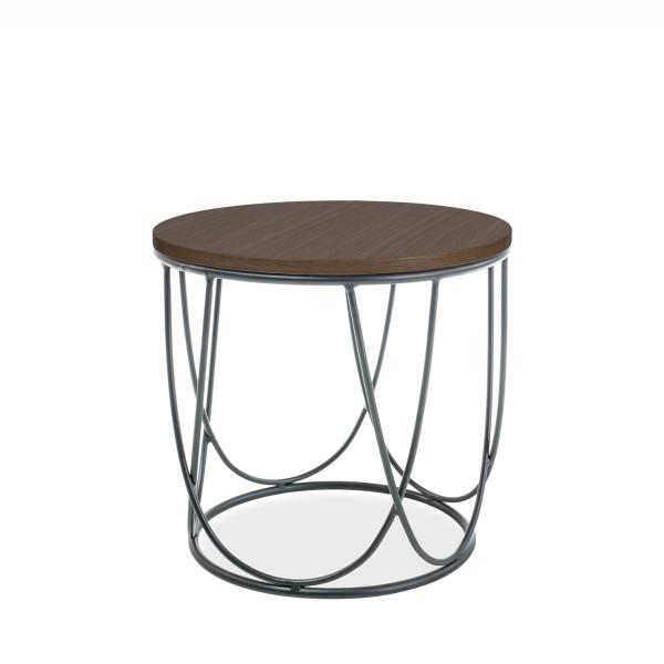 Masuta design minimalist SEPIA II nuc, 42cm SEPIAIIOLC SM, Masute de cafea, Corpuri de iluminat, lustre, aplice, veioze, lampadare, plafoniere. Mobilier si decoratiuni, oglinzi, scaune, fotolii. Oferte speciale iluminat interior si exterior. Livram in toata tara.  a