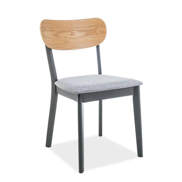 Scaun din lemn cu sezut tapitat VITRO, grafit/ gri/ stejar, Scaune dining , Corpuri de iluminat, lustre, aplice, veioze, lampadare, plafoniere. Mobilier si decoratiuni, oglinzi, scaune, fotolii. Oferte speciale iluminat interior si exterior. Livram in toata tara.  a