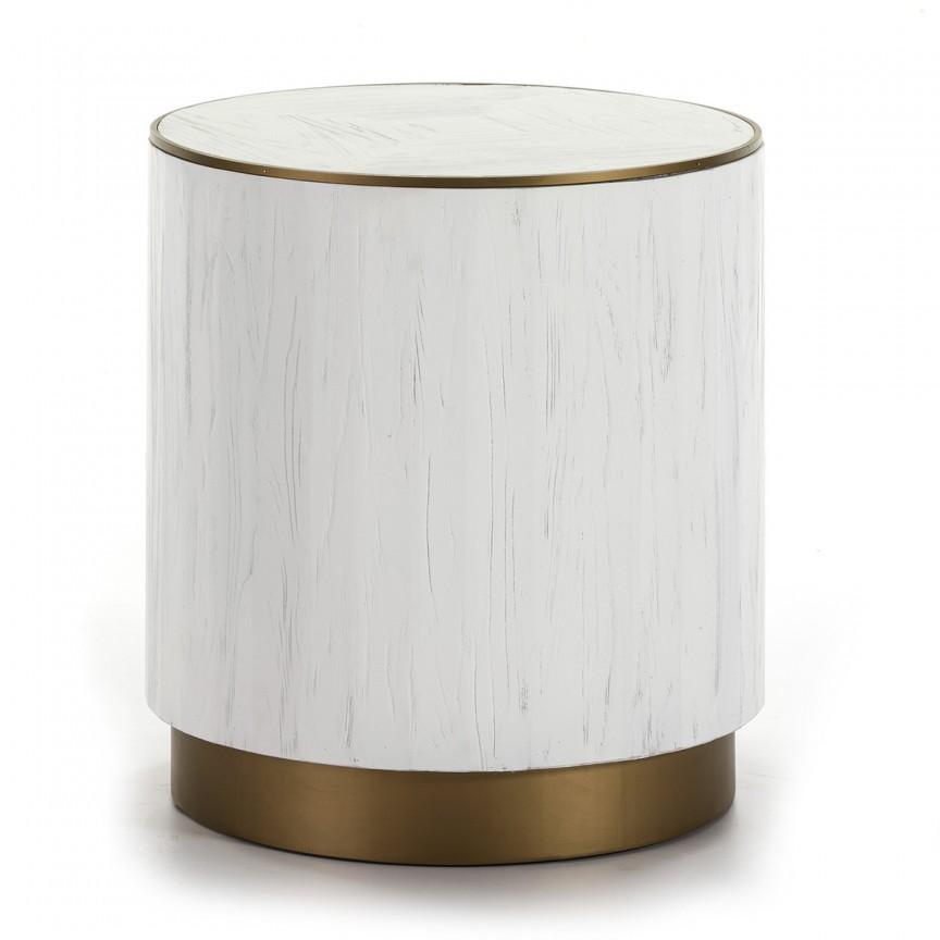 Masuta moderna design LUX Wood White, 50cm alb 16002/00 TN, Masute de cafea, Corpuri de iluminat, lustre, aplice, veioze, lampadare, plafoniere. Mobilier si decoratiuni, oglinzi, scaune, fotolii. Oferte speciale iluminat interior si exterior. Livram in toata tara.  a