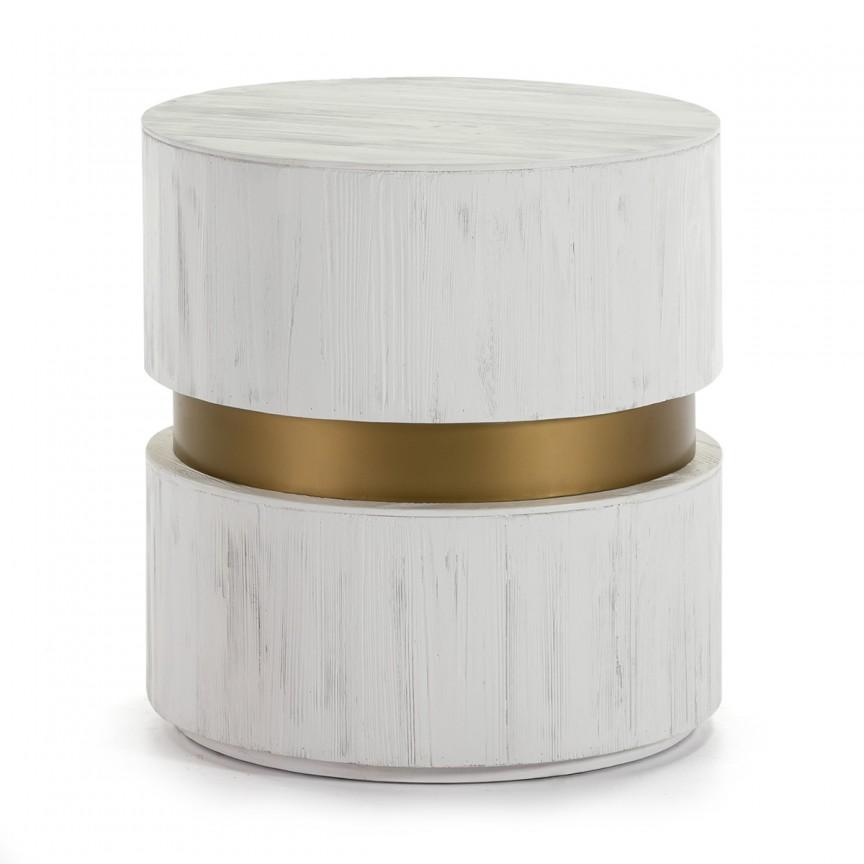 Masuta moderna design LUX Wood White, 55cm alb 16006/00 TN, Masute de cafea, Corpuri de iluminat, lustre, aplice, veioze, lampadare, plafoniere. Mobilier si decoratiuni, oglinzi, scaune, fotolii. Oferte speciale iluminat interior si exterior. Livram in toata tara.  a