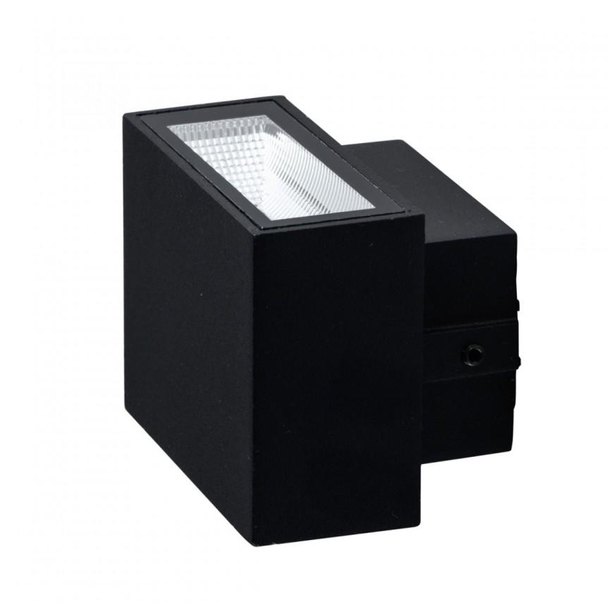 Aplica perete LED exterior ambientala IP44 Mercur negru 807022701 MW, Aplice de exterior moderne , Corpuri de iluminat, lustre, aplice, veioze, lampadare, plafoniere. Mobilier si decoratiuni, oglinzi, scaune, fotolii. Oferte speciale iluminat interior si exterior. Livram in toata tara.  a