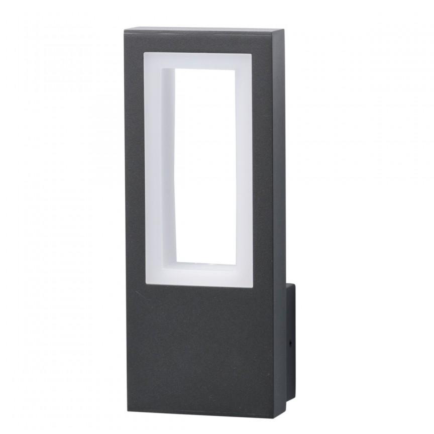 Aplica de perete LED exterior IP44 Mercur gri 807023101 MW, Aplice de exterior moderne , Corpuri de iluminat, lustre, aplice, veioze, lampadare, plafoniere. Mobilier si decoratiuni, oglinzi, scaune, fotolii. Oferte speciale iluminat interior si exterior. Livram in toata tara.  a