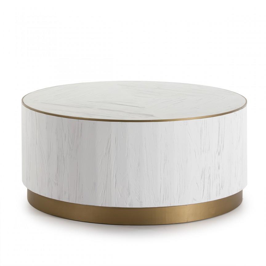 Masuta de cafea design modern LUX Wood White, 100cm 16001/00 TN, Masute de cafea, Corpuri de iluminat, lustre, aplice, veioze, lampadare, plafoniere. Mobilier si decoratiuni, oglinzi, scaune, fotolii. Oferte speciale iluminat interior si exterior. Livram in toata tara.  a