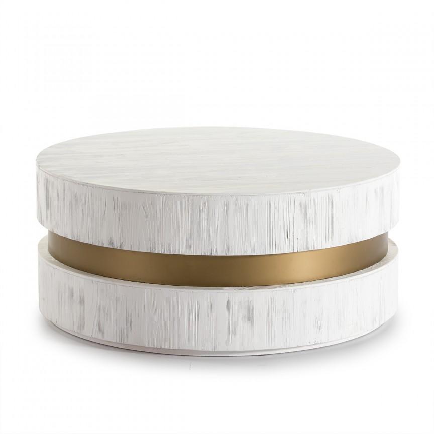Masuta de cafea design modern LUX Wood White 16005/00 TN, Masute de cafea, Corpuri de iluminat, lustre, aplice, veioze, lampadare, plafoniere. Mobilier si decoratiuni, oglinzi, scaune, fotolii. Oferte speciale iluminat interior si exterior. Livram in toata tara.  a