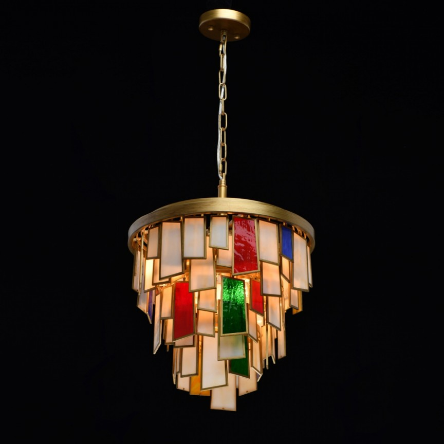 Lustra stil electic Ø39cm Tiffany 185011106 MW, Candelabre, Pendule clasice, Corpuri de iluminat, lustre, aplice, veioze, lampadare, plafoniere. Mobilier si decoratiuni, oglinzi, scaune, fotolii. Oferte speciale iluminat interior si exterior. Livram in toata tara.  a