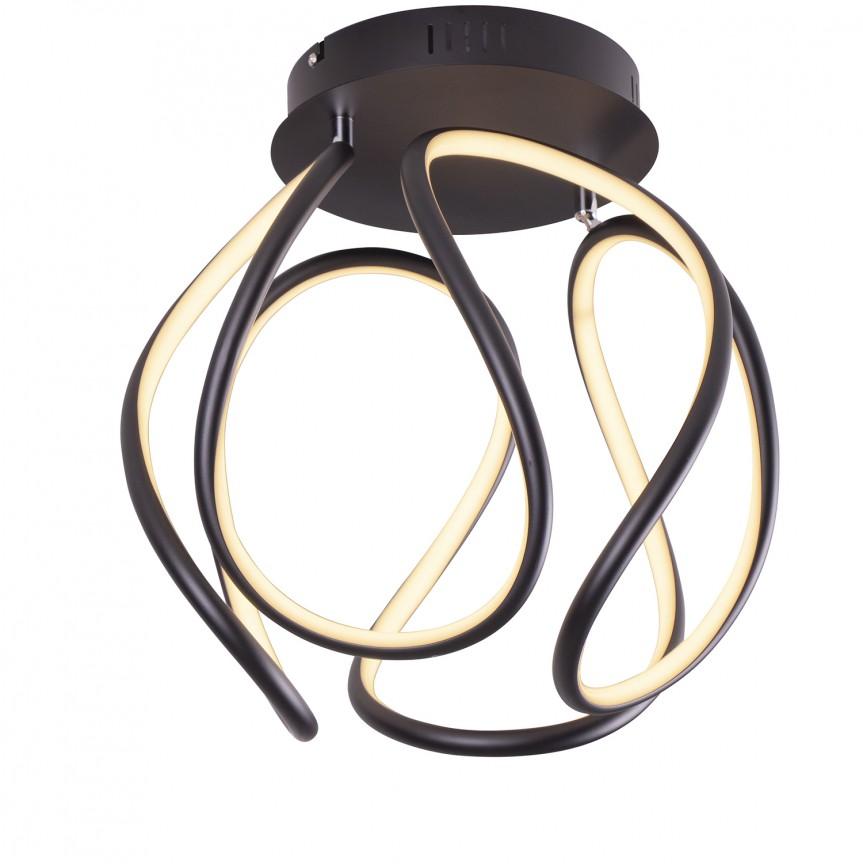 Plafoniera LED design modern Ø40cm TWIST C0147 MX, Lustre moderne aplicate, Corpuri de iluminat, lustre, aplice, veioze, lampadare, plafoniere. Mobilier si decoratiuni, oglinzi, scaune, fotolii. Oferte speciale iluminat interior si exterior. Livram in toata tara.  a