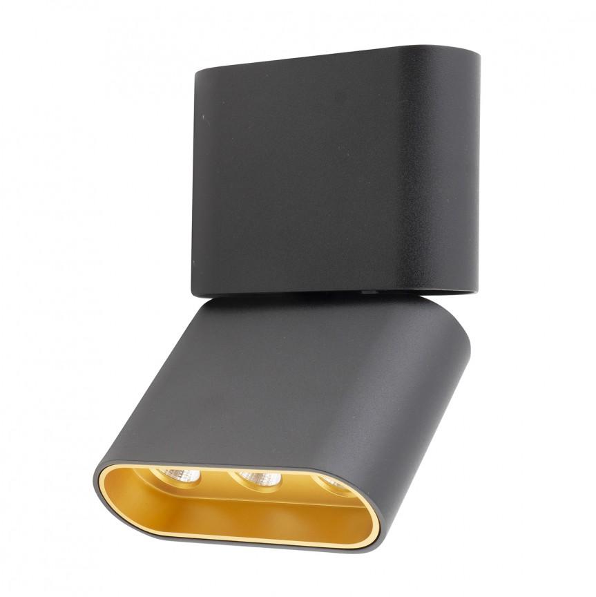 Plafoniera LED moderna design minimalist MARVEL neagra C0150 MX, Spoturi aplicate - tavan / perete, Corpuri de iluminat, lustre, aplice, veioze, lampadare, plafoniere. Mobilier si decoratiuni, oglinzi, scaune, fotolii. Oferte speciale iluminat interior si exterior. Livram in toata tara.  a