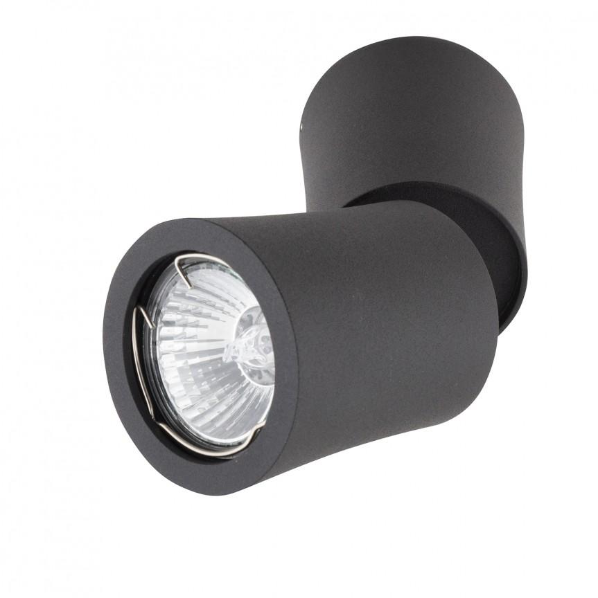 Spot aplicat directionabil DOT negru C0157 MX, Spoturi - iluminat - cu 1 spot, Corpuri de iluminat, lustre, aplice, veioze, lampadare, plafoniere. Mobilier si decoratiuni, oglinzi, scaune, fotolii. Oferte speciale iluminat interior si exterior. Livram in toata tara.  a
