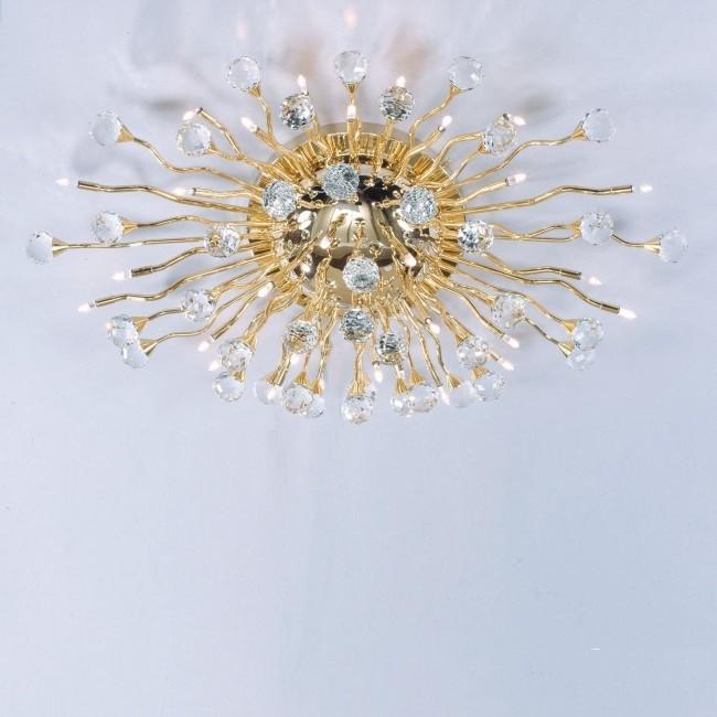 Lustra LUX Cristal Swarovski Spectra, Galaxy Gold plated, 78x48cm , Lustre aplicate, Plafoniere clasice, Corpuri de iluminat, lustre, aplice, veioze, lampadare, plafoniere. Mobilier si decoratiuni, oglinzi, scaune, fotolii. Oferte speciale iluminat interior si exterior. Livram in toata tara.  a