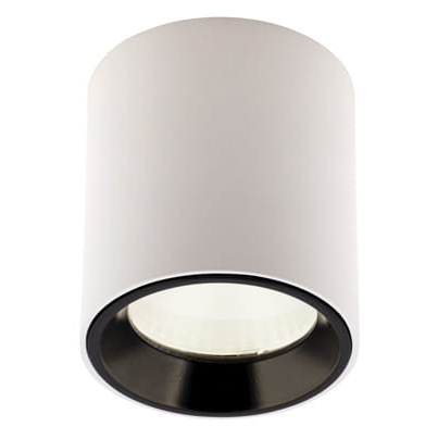 Spot LED aplicat design minimalist TUB alb/negru C0155 MX + RC0155/0156 BLACK, Spoturi LED incastrate, aplicate, Corpuri de iluminat, lustre, aplice, veioze, lampadare, plafoniere. Mobilier si decoratiuni, oglinzi, scaune, fotolii. Oferte speciale iluminat interior si exterior. Livram in toata tara.  a