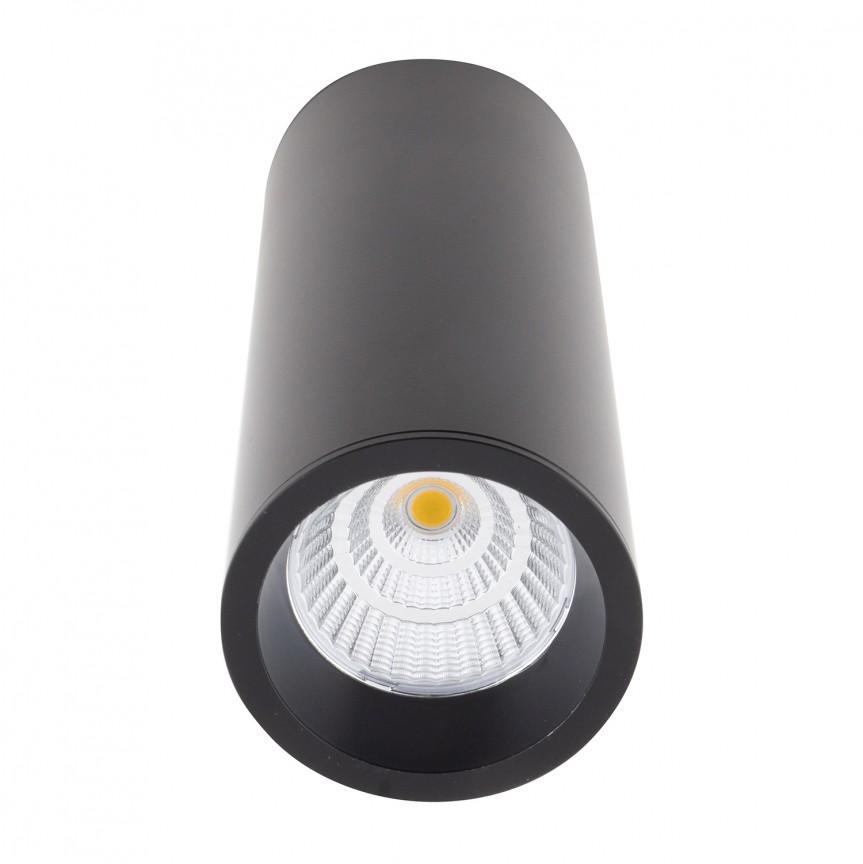 Spot LED aplicat design minimalist LONG negru C0154 MX + RC0153/C0154 BLACK, Spoturi aplicate - tavan / perete, Corpuri de iluminat, lustre, aplice, veioze, lampadare, plafoniere. Mobilier si decoratiuni, oglinzi, scaune, fotolii. Oferte speciale iluminat interior si exterior. Livram in toata tara.  a