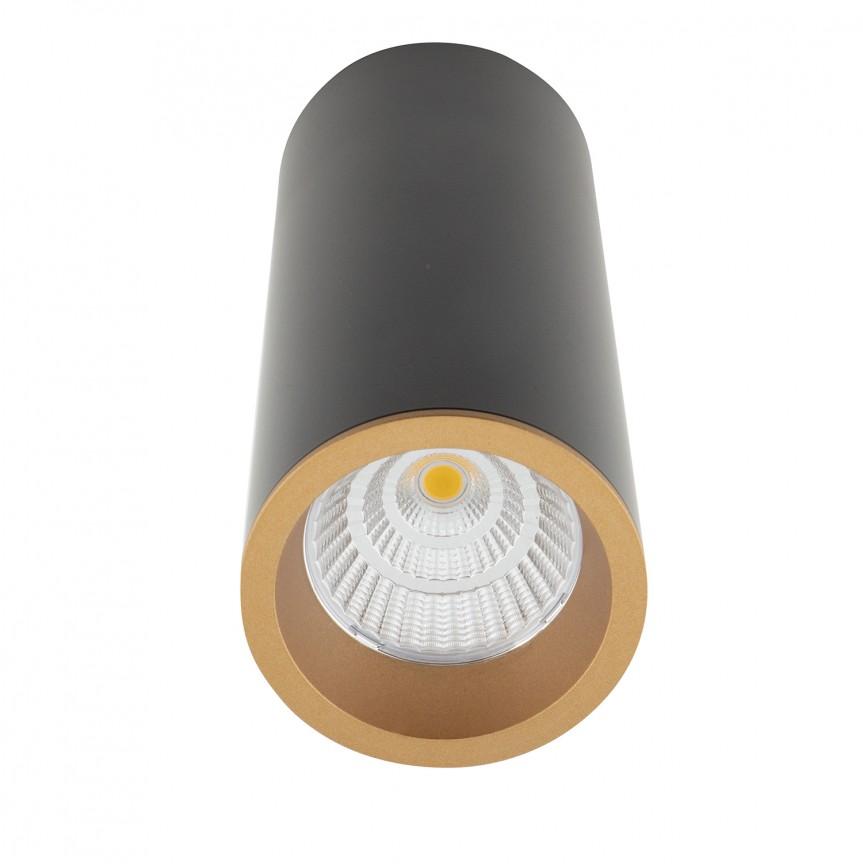 Spot LED aplicat design minimalist LONG negru/auriu C0154 MX + RC0153/C0154 GOLD, Spoturi aplicate - tavan / perete, Corpuri de iluminat, lustre, aplice, veioze, lampadare, plafoniere. Mobilier si decoratiuni, oglinzi, scaune, fotolii. Oferte speciale iluminat interior si exterior. Livram in toata tara.  a